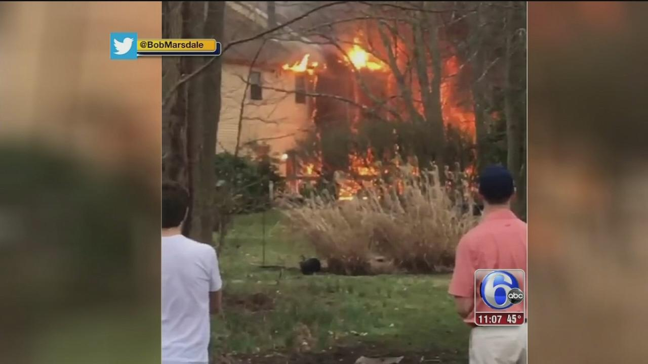Officials: Propane grill may have sparked Burlco fire