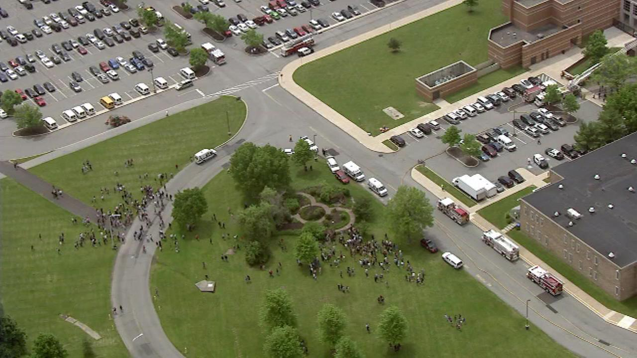 Pictured: Chopper 6 over North Penn High School