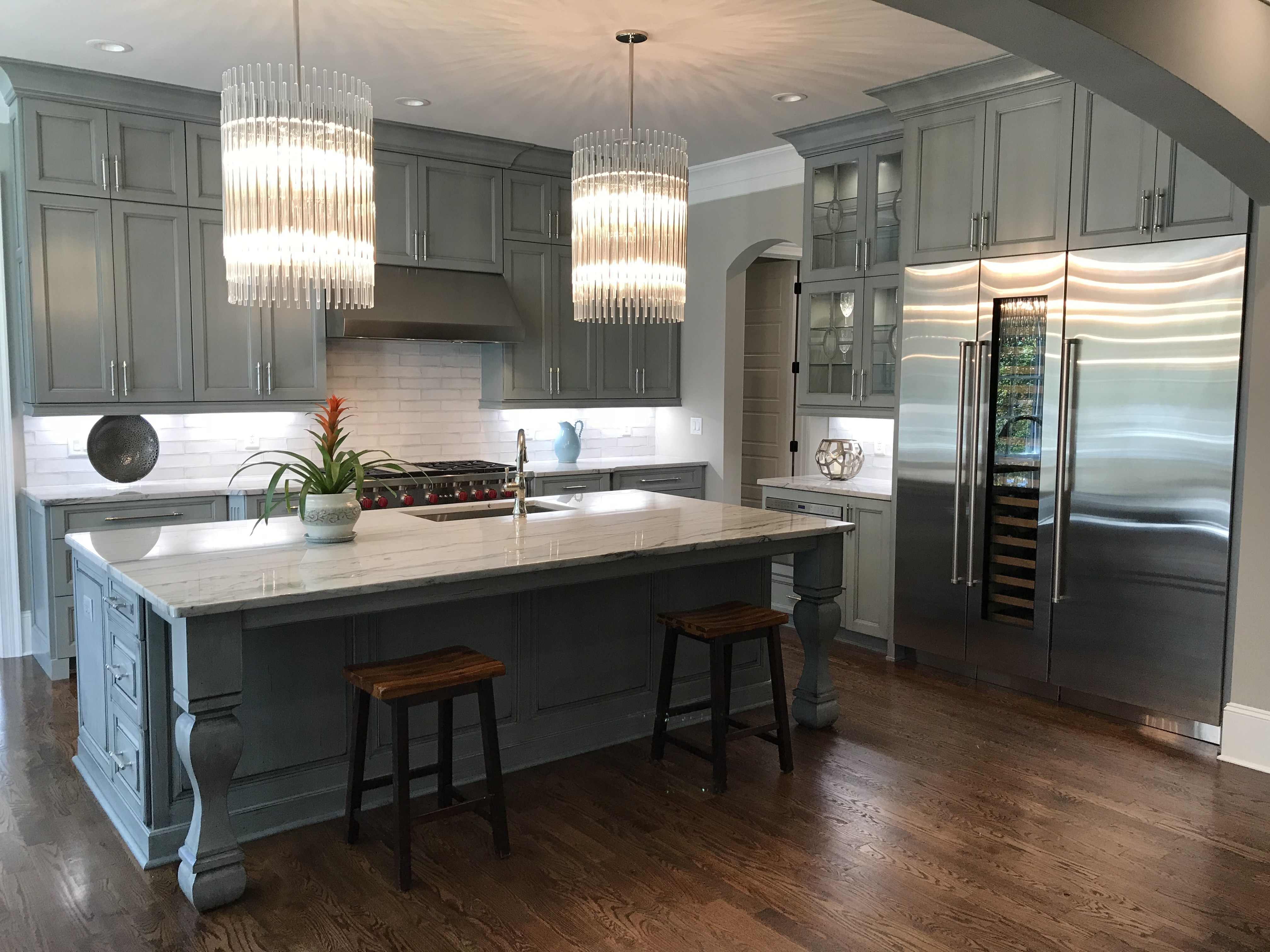 <div class='meta'><div class='origin-logo' data-origin='none'></div><span class='caption-text' data-credit='WTVD photo/Shawn Replogle'>Kitchen - 6506 New Market Way, Raleigh, NC - $1.25 million by Raleigh Custom Homes</span></div>