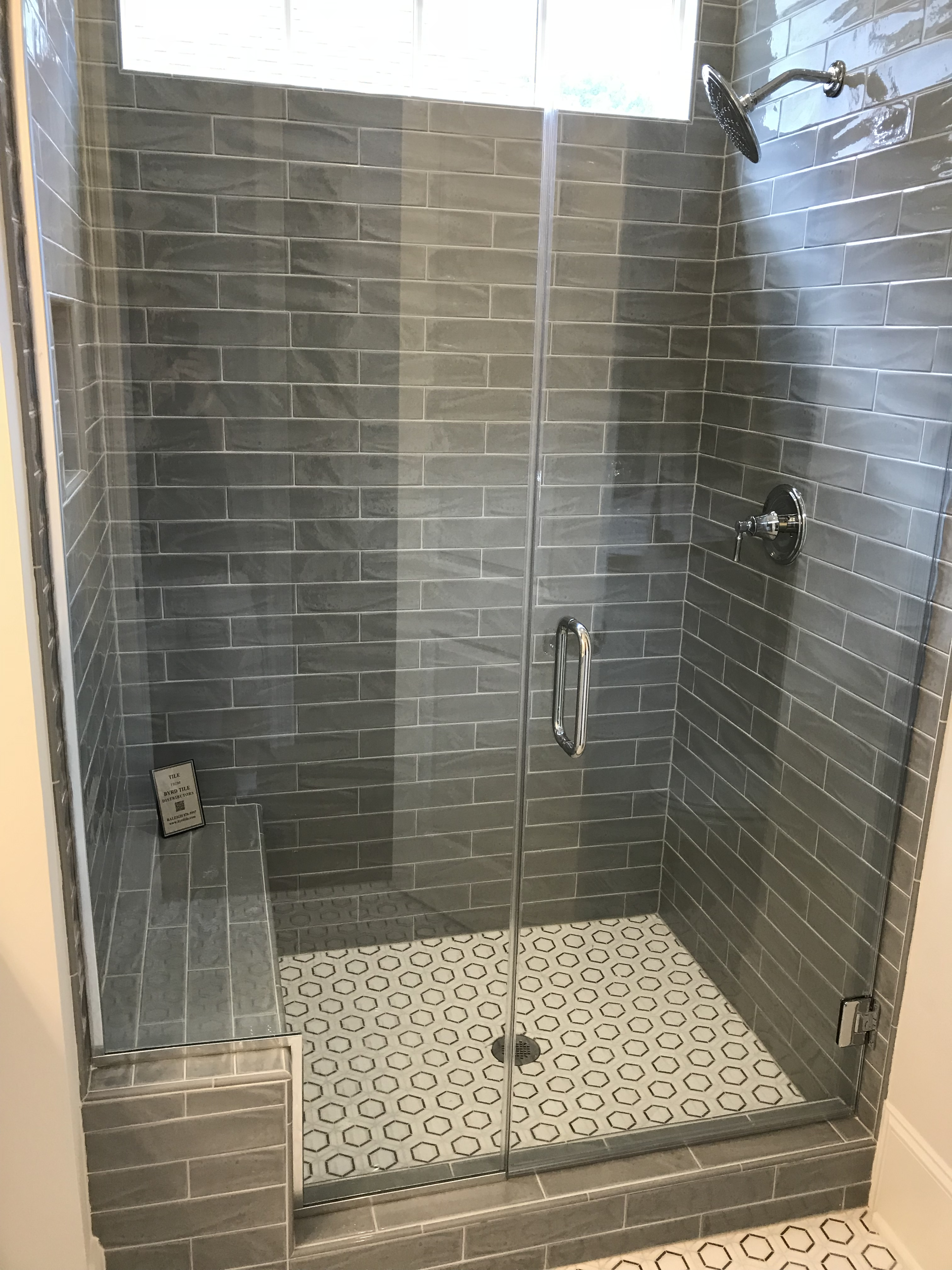 <div class='meta'><div class='origin-logo' data-origin='none'></div><span class='caption-text' data-credit='WTVD photo/Shawn Replogle'>Master shower - 8308 Leyburn Court, Raleigh, NC - $759,000 by Legacy Custom Homes</span></div>