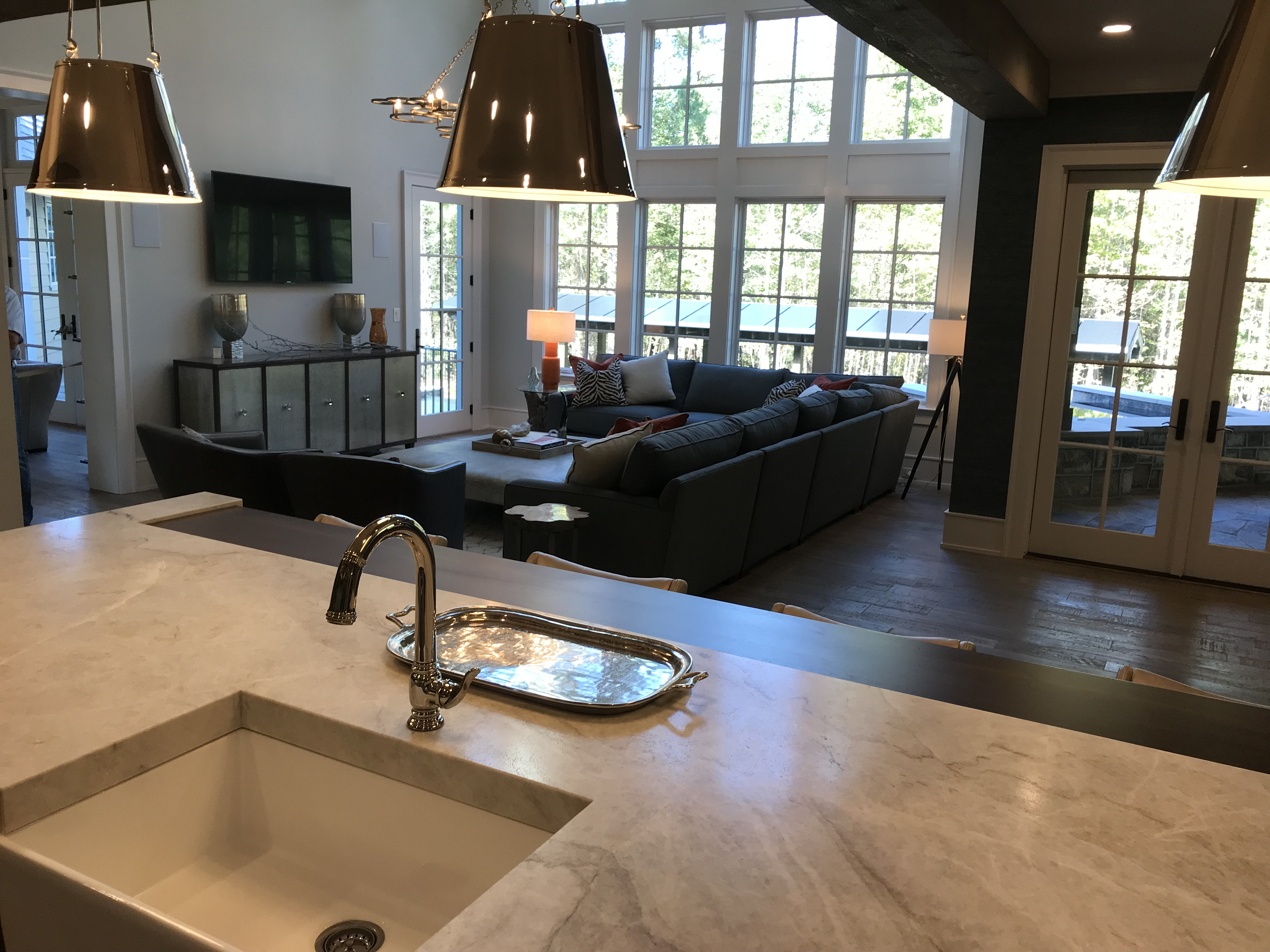 <div class='meta'><div class='origin-logo' data-origin='none'></div><span class='caption-text' data-credit='WTVD Photo/Shawn Replogle'>Kitchen - 5105 Avalaire Oaks Drive, Raleigh, NC - $3.2 million by Bost Custom Homes</span></div>