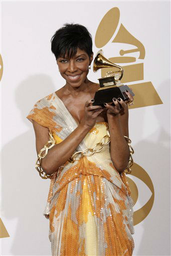 "<div class=""meta image-caption""><div class=""origin-logo origin-image none""><span>none</span></div><span class=""caption-text"">Natalie Cole holds the best instrumental arrangement accompanying vocalist award at the 51st Annual Grammy Awards on Sunday, Feb. 8, 2009, in Los Angeles. (AP photo/Matt Sayles)</span></div>"