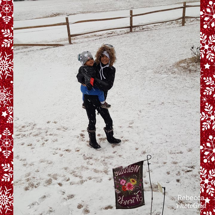 <div class='meta'><div class='origin-logo' data-origin='none'></div><span class='caption-text' data-credit='Rebecca Eldridge - ABC11 Eyewitness'>Graycie and Graycen playing in the snow in Aberdeen!</span></div>