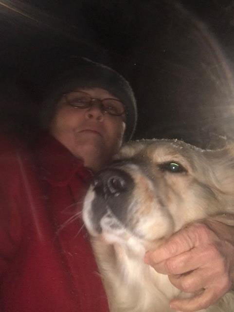 <div class='meta'><div class='origin-logo' data-origin='none'></div><span class='caption-text' data-credit='Kathy Carnal - ABC11 Eyewitness'>Swiper and I in the first snow of 2018, Raeford,</span></div>