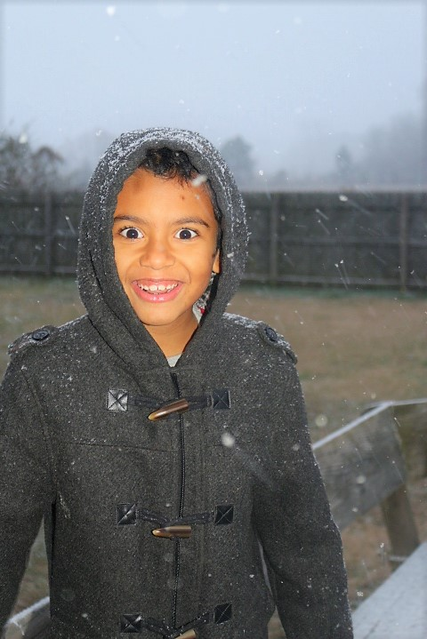 <div class='meta'><div class='origin-logo' data-origin='none'></div><span class='caption-text' data-credit='Shanetta Smith - ABC11 Eyewitness'>The beginning of snowfall in Raeford.</span></div>