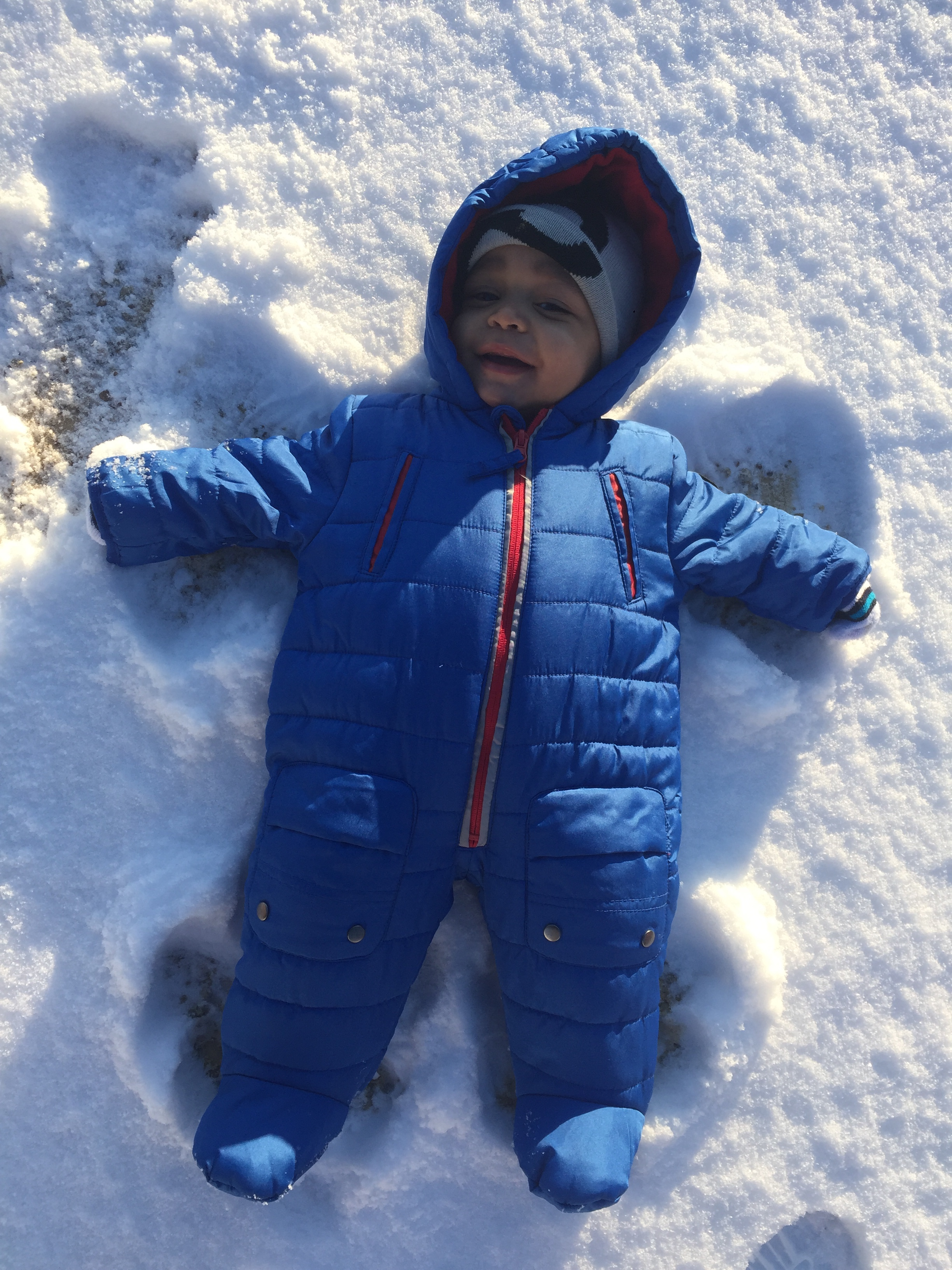 <div class='meta'><div class='origin-logo' data-origin='none'></div><span class='caption-text' data-credit='Monica Escamilla - ABC11 Eyewitness'>7-month-old Ryan's first snow angel!</span></div>