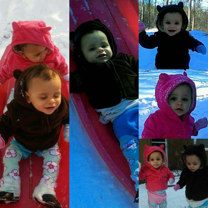 <div class='meta'><div class='origin-logo' data-origin='none'></div><span class='caption-text' data-credit='Cara Turney‎'>1-year-old twins, Kyliah and Kalani Beauchamp enjoying their first 2018 snow in Sanford.</span></div>