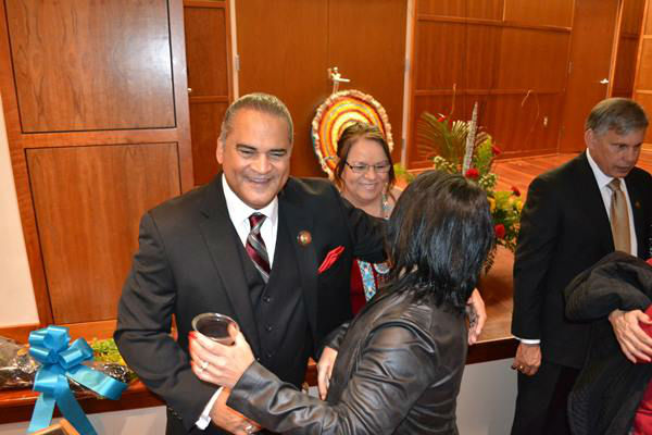 "<div class=""meta image-caption""><div class=""origin-logo origin-image none""><span>none</span></div><span class=""caption-text"">The inauguration for newly elected Lumbee Tribal Chairman Harvey Godwin was held Thursday night at the Givens Performing Arts Center at UNC Pembroke. (WTVD Photo/ Courtesy of James Locklear)</span></div>"