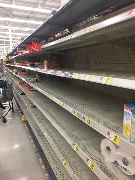 "<div class=""meta image-caption""><div class=""origin-logo origin-image wtvd""><span>WTVD</span></div><span class=""caption-text"">Walmart at Brier Creek. No more bread! (kawaii_24x7/ABC11 Eyewitness)</span></div>"