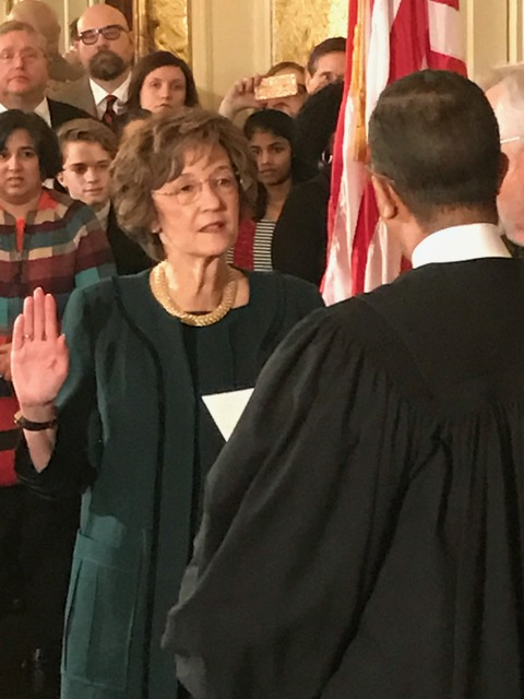 <div class='meta'><div class='origin-logo' data-origin='none'></div><span class='caption-text' data-credit=''>Elaine Marshall takes the oath</span></div>