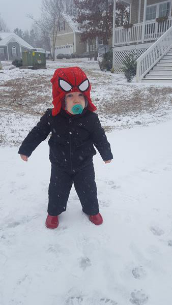<div class='meta'><div class='origin-logo' data-origin='WTVD'></div><span class='caption-text' data-credit='Tiffany Peters - ABC11 Eyewitness'>1 year old Easton sees his first snow!</span></div>
