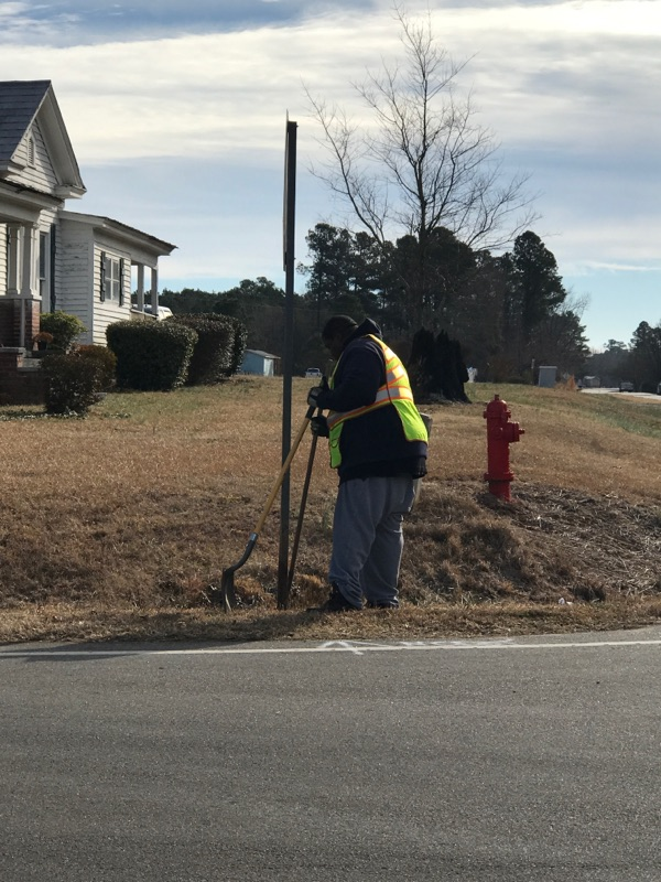 """<div class=""""meta image-caption""""><div class=""""origin-logo origin-image none""""><span>none</span></div><span class=""""caption-text"""">Crews are installing new stop signs, stop ahead warning signs at the intersection of Applewhite Road and Hwy 231. (Credit: Melissa Keon)</span></div>"""