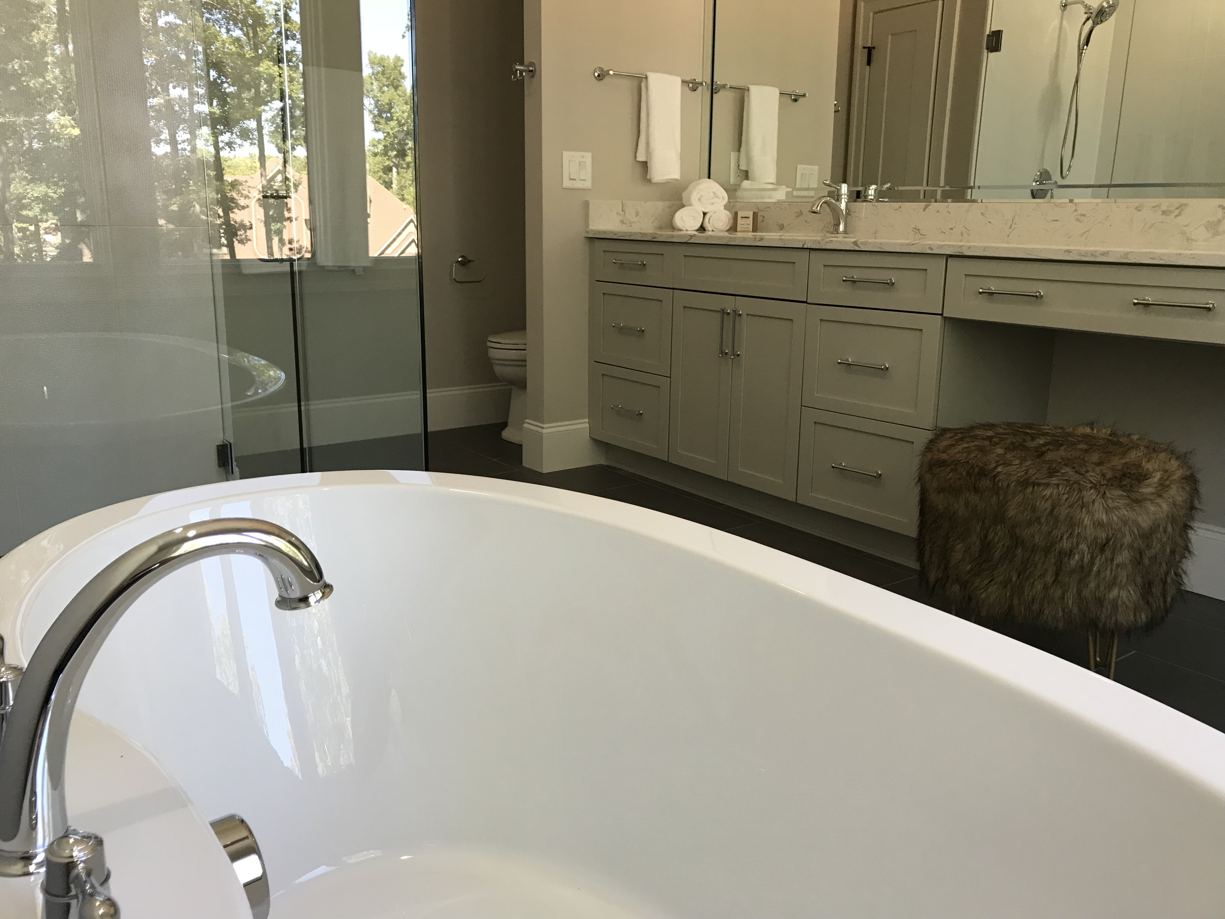 <div class='meta'><div class='origin-logo' data-origin='none'></div><span class='caption-text' data-credit='WTVD photo/Shawn Replogle'>Bathroom - 5149 Avalaire Oaks, Raleigh, NC - $1.9 million by KJ Construction</span></div>
