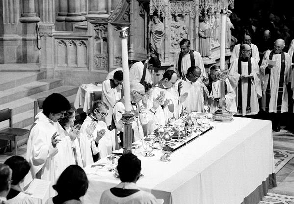 "<div class=""meta image-caption""><div class=""origin-logo origin-image ap""><span>AP</span></div><span class=""caption-text"">The Rev. Pauli Murray, third from left, participates in ordination ceremonies in the Washington Cathedral, D.C., Jan. 8, 1977.</span></div>"