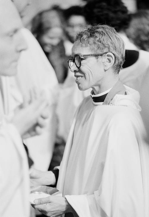 <div class='meta'><div class='origin-logo' data-origin='AP'></div><span class='caption-text' data-credit=''>The Rev. Pauli Murray, shown Jan. 8, 1977, was the first black woman ordained as a priest of the Episcopal Church.</span></div>