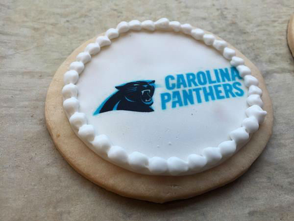<div class='meta'><div class='origin-logo' data-origin='none'></div><span class='caption-text' data-credit='WTVD/Stephanie Lopez'>Carolina Panthers cookies at the Mad Hatter in Durham.</span></div>