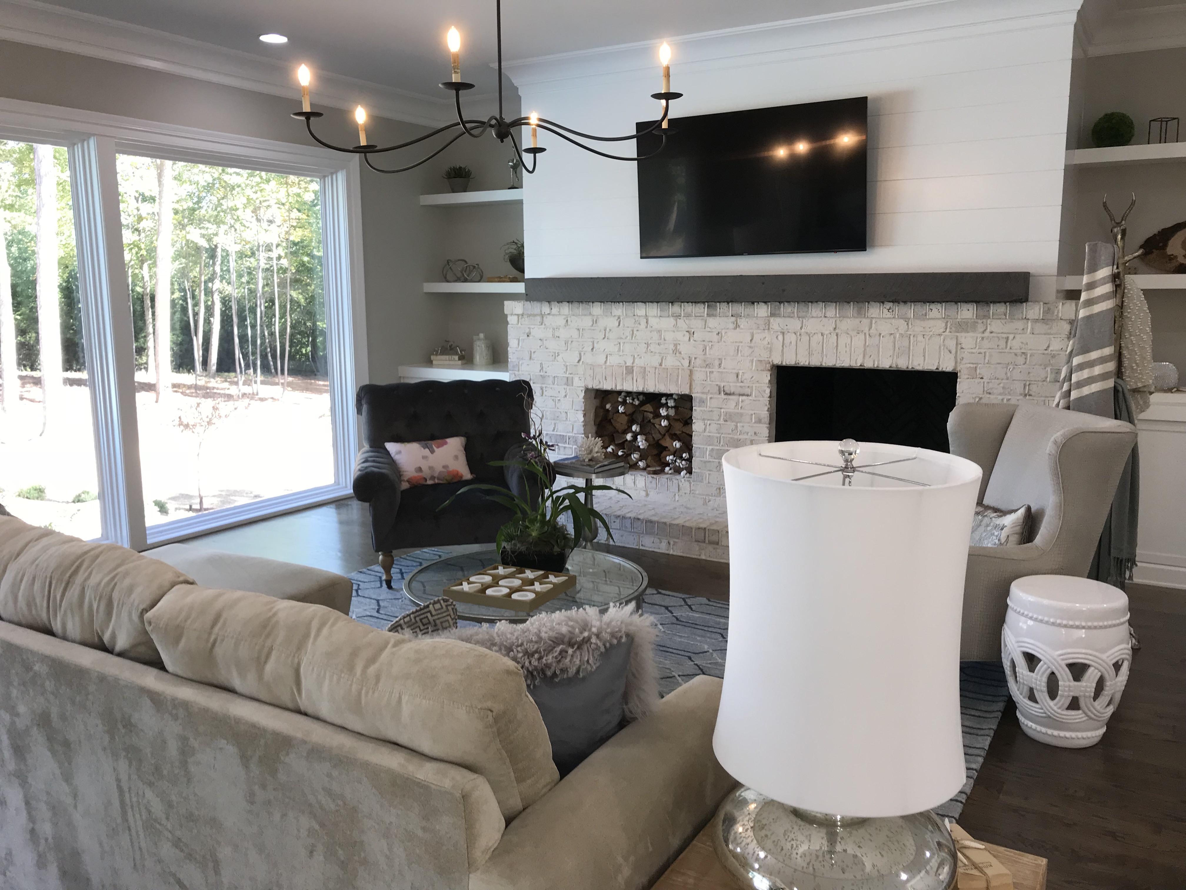 <div class='meta'><div class='origin-logo' data-origin='none'></div><span class='caption-text' data-credit='WTVD photo/Shawn Replogle'>Living room - 5149 Avalaire Oaks, Raleigh, NC - $1.9 million by KJ Construction</span></div>
