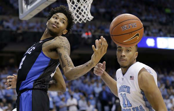 "<div class=""meta image-caption""><div class=""origin-logo origin-image none""><span>none</span></div><span class=""caption-text"">North Carolina's Brice Johnson (11) and Duke's Brandon Ingram watch a rebound. (Gerry Broome/AP)</span></div>"