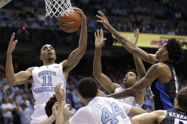 "<div class=""meta image-caption""><div class=""origin-logo origin-image none""><span>none</span></div><span class=""caption-text"">UNC's Brice Johnson was unstoppable with 29 points and 19 rebounds. (Gerry Broome/AP)</span></div>"
