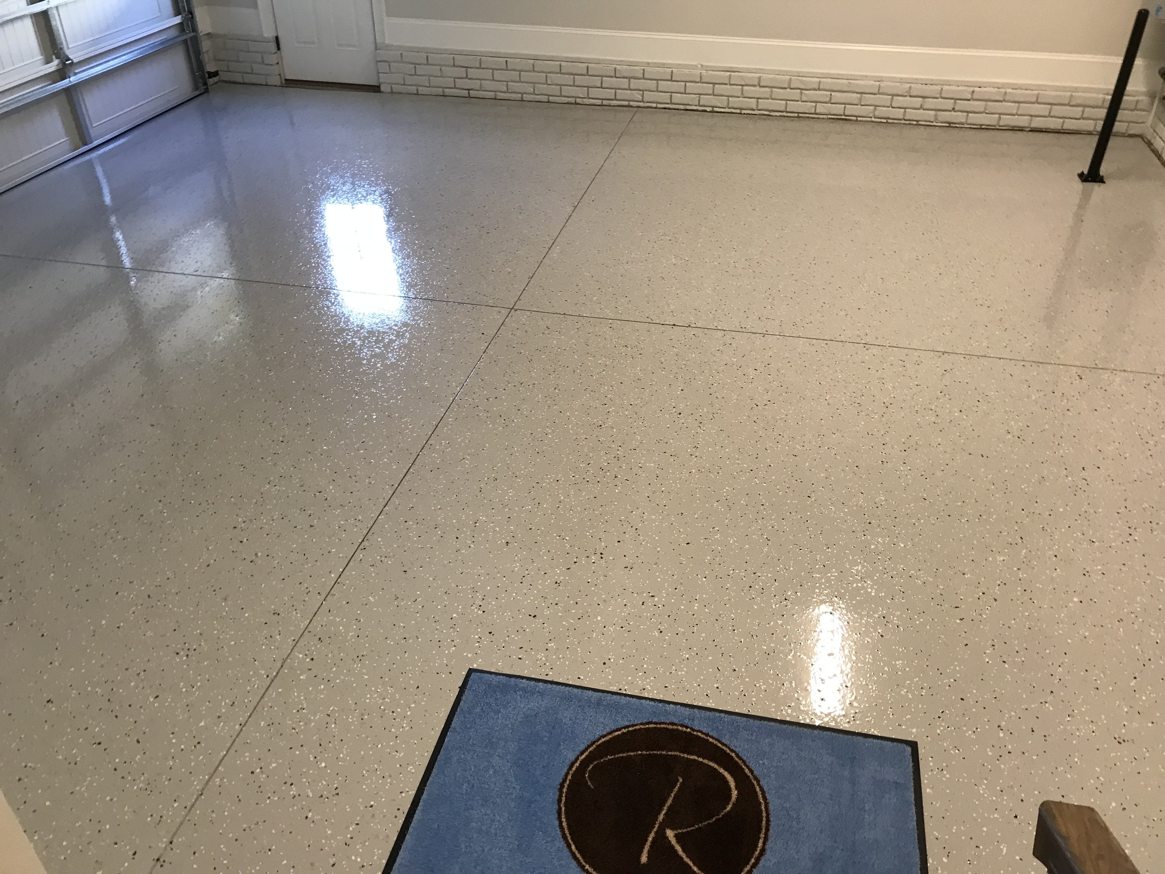 <div class='meta'><div class='origin-logo' data-origin='none'></div><span class='caption-text' data-credit='WTVD photo/Shawn Replogle'>Finished garage floor - 6502 New Market Way, Raleigh</span></div>