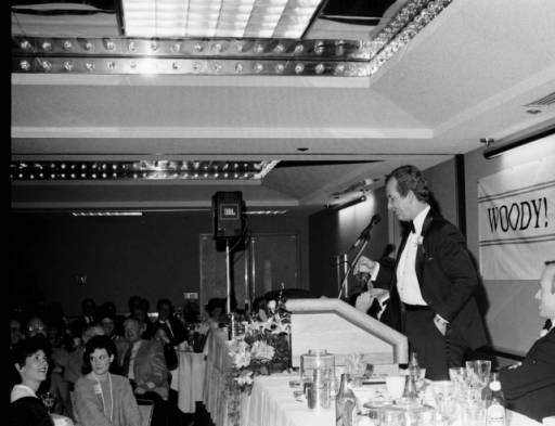 <div class='meta'><div class='origin-logo' data-origin='none'></div><span class='caption-text' data-credit='Credit: Hugh Morton Collection of Photographs and Films via UNC'>Woody Durham speaking at a roast held in his honor.</span></div>