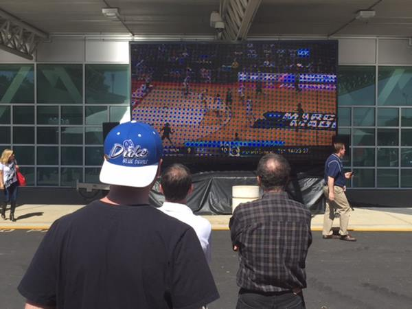 <div class='meta'><div class='origin-logo' data-origin='WTVD'></div><span class='caption-text' data-credit=''>Fans arrive at PNC arena in Raleigh for NCAA tournament</span></div>