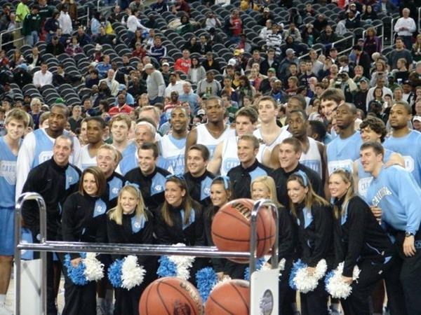 """<div class=""""meta image-caption""""><div class=""""origin-logo origin-image none""""><span>none</span></div><span class=""""caption-text"""">Hanging with the Heels at Final Four practice in Detroit  (Credit: Andrea Blanford)</span></div>"""