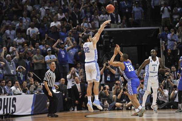<div class='meta'><div class='origin-logo' data-origin='AP'></div><span class='caption-text' data-credit='AP Photo/Brandon Dill'>North Carolina forward Luke Maye (32) shoots the winning basket over Kentucky's Isaiah Briscoe (13) in the second half of the South Regional final game against Kentucky</span></div>