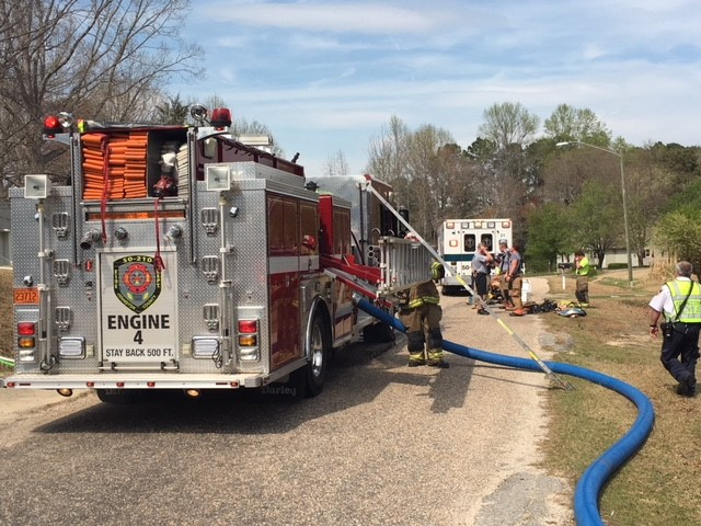 <div class='meta'><div class='origin-logo' data-origin='WTVD'></div><span class='caption-text' data-credit=''>Firefighters respond to a house fire Monday in Johnston County.</span></div>