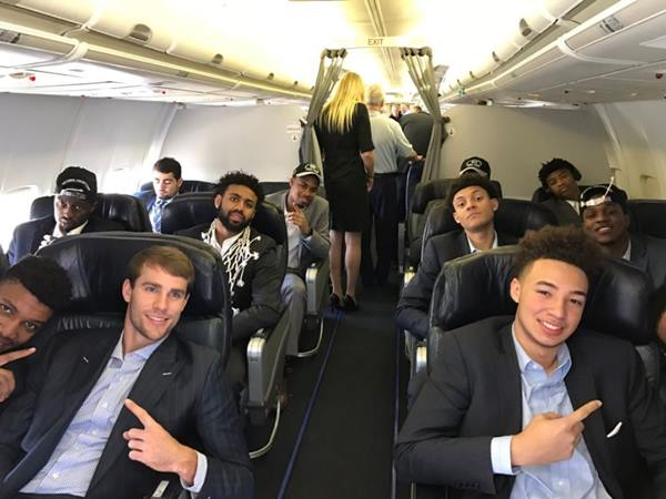<div class='meta'><div class='origin-logo' data-origin='none'></div><span class='caption-text' data-credit='Credit: UNC Basketball/ Twitter'>UNC Tar Heels board their flight to return home</span></div>