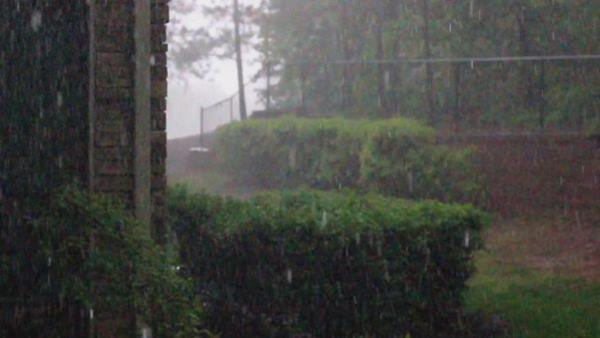 <div class='meta'><div class='origin-logo' data-origin='WTVD'></div><span class='caption-text' data-credit='ABC11 Eyewitness'>In Cary. Severe storms brought hail, winds to Central North Carolina on Thursday, April 28.</span></div>