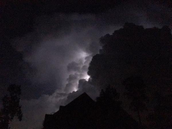 <div class='meta'><div class='origin-logo' data-origin='WTVD'></div><span class='caption-text' data-credit='ABC11 Eyewitness'>Thunderstorm in Raeford.</span></div>