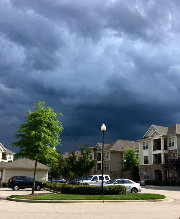 <div class='meta'><div class='origin-logo' data-origin='WTVD'></div><span class='caption-text' data-credit='ABC11 Eyewitness'>Dark menacing clouds drowning out the sunshine in Cary.</span></div>
