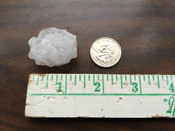 <div class='meta'><div class='origin-logo' data-origin='WTVD'></div><span class='caption-text' data-credit='ABC11 Eyewitness'>Big hail in west Raleigh.</span></div>
