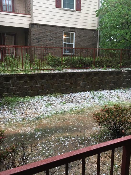 <div class='meta'><div class='origin-logo' data-origin='WTVD'></div><span class='caption-text' data-credit='ABC11 Eyewitness'>Five minutes worth of large hail.</span></div>