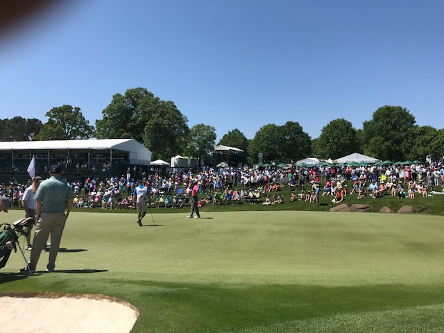 <div class='meta'><div class='origin-logo' data-origin='WTVD'></div><span class='caption-text' data-credit='Charlie Mickens'>Tiger Woods was the main attraction on Pro-Am Day at Quail Hollow Club in Charlotte. Woods is playing in the Wells Fargo Championship this weekend.</span></div>