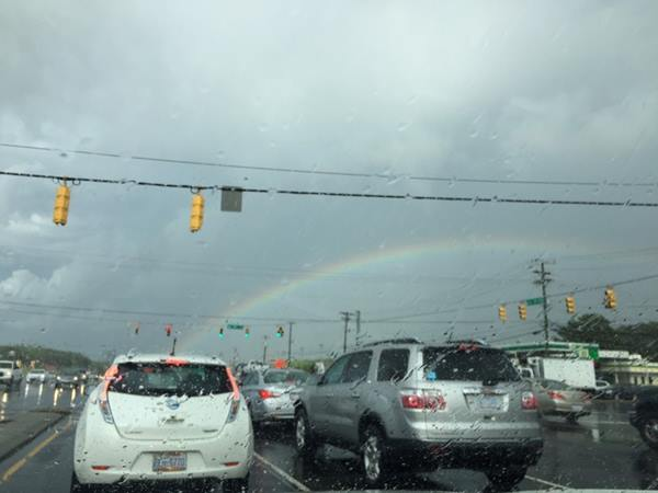 <div class='meta'><div class='origin-logo' data-origin='WTVD'></div><span class='caption-text' data-credit='ABC11 Eyewitness'>Garrett Ed and 15-501, rainbow after the storm.</span></div>