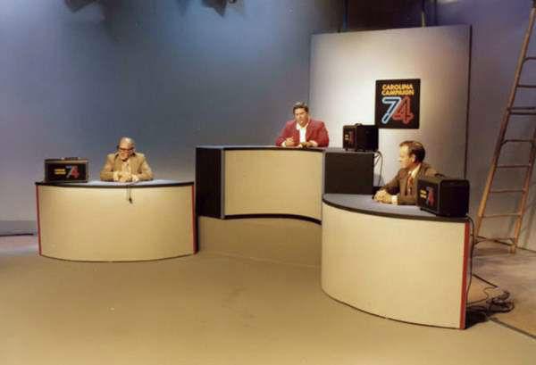<div class='meta'><div class='origin-logo' data-origin='none'></div><span class='caption-text' data-credit='WTVD Photo'>1974 election coverage. L-R: News Director Frank Thompson, reporter Max Powell, reporter Bob Carlson.</span></div>