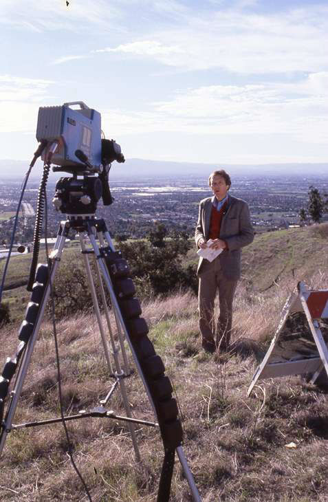 <div class='meta'><div class='origin-logo' data-origin='none'></div><span class='caption-text' data-credit='WTVD Photo'>Larry Stogner filming a documentary on Silicon Valley ca. 1980.</span></div>