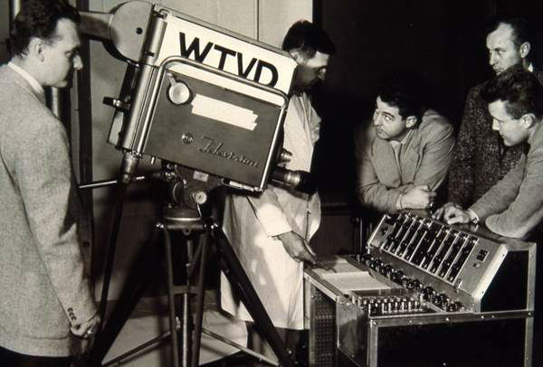 <div class='meta'><div class='origin-logo' data-origin='none'></div><span class='caption-text' data-credit='WTVD Photo'>Engineers with camera equipment (probably 1950s)</span></div>