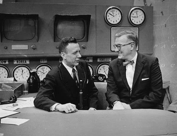 <div class='meta'><div class='origin-logo' data-origin='none'></div><span class='caption-text' data-credit='WTVD Photo'>Ernie Greup with Dave Garroway, first host of NBC's &#34;Today&#34;</span></div>