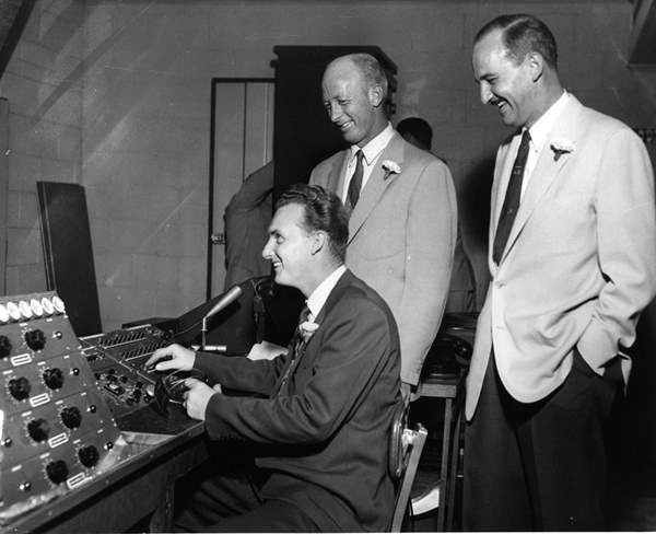 <div class='meta'><div class='origin-logo' data-origin='none'></div><span class='caption-text' data-credit='WTVD Photo'>Standing in the back: Station co-founders Harmon Duncan and Floyd Fletcher</span></div>