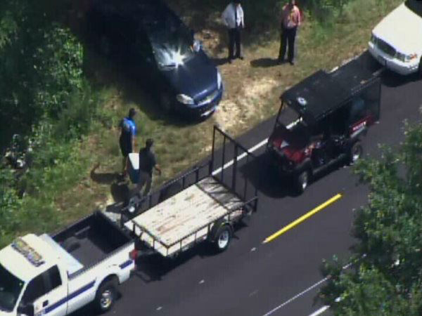 Bordeaux's remains were found north of Interstate 295 on River Road. <span class=meta>WTVD Photo</span>