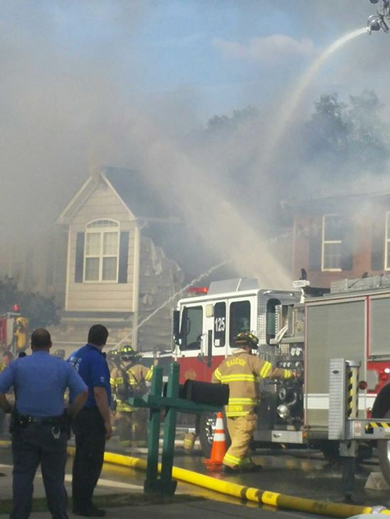 <div class='meta'><div class='origin-logo' data-origin='none'></div><span class='caption-text' data-credit='image courtesy Benjamin James Cirasole'>Three townhomes were damaged in a fire in Raleigh</span></div>
