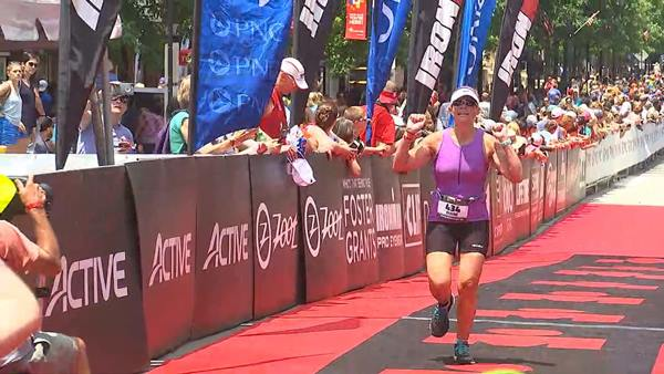 "<div class=""meta image-caption""><div class=""origin-logo origin-image wtvd""><span>WTVD</span></div><span class=""caption-text"">Diane Wilson crossing the Raleigh Half Ironman finish line.</span></div>"