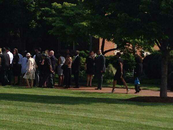 Family, friends and famous admirers gathered for a weekend tribute to poet Maya Angelou at Wake Forest University, where she was a professor for more than 30 years. <span class=meta>WTVD Photo/ Photo Credit: Nicole Carr</span>