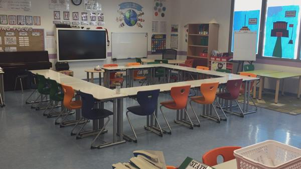 <div class='meta'><div class='origin-logo' data-origin='none'></div><span class='caption-text' data-credit='ABC11 Photojournalist Adolfo Ibarra'>The classroom sizes are very small.</span></div>