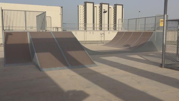 <div class='meta'><div class='origin-logo' data-origin='none'></div><span class='caption-text' data-credit='ABC11 Photojournalist Adolfo Ibarra'>The school even has a skate park on the rooftop!</span></div>