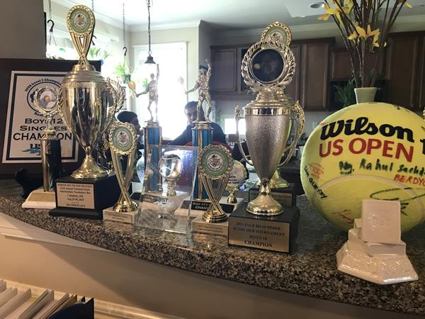 <div class='meta'><div class='origin-logo' data-origin='WTVD'></div><span class='caption-text' data-credit='Ngozi Ekeledo'>Some of the trophies and honors for Rohan Sachdev.</span></div>