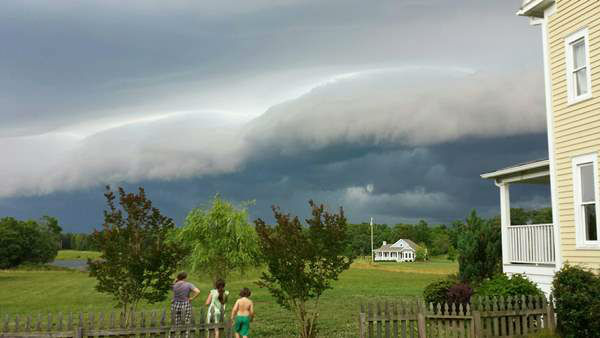 View from Hurdle Mills as thunderstorms swept across central North Carolina Wednesday afternoon <span class=meta>WTVD iWitness Photo</span>